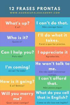 """Como aprender Inglêsd Sozinho. Observe como essas frases e seus significados não condizem com uma tradução ao pé da letra. Muitos quando começam a aprender estas frases me perguntam: """"Mas Leo! Posso falar outra coisa ao invés?"""" Acho engraçado e respondo: """"Poder pode! Mas esta é a que se usa."""" Aprenda frases que o nativos usam ao invés de ficar traduzindo suas próprias frases em português. Aprenda Frases Prontas com www.AgoraEufaloAcademy.com"""