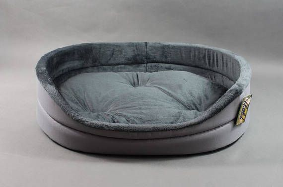 Oval Cozy Pet Bed Gray Pet Bedding Dog Bed Cat Bed Pet Beds