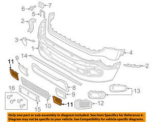 a jeep chrysler oem front bumper lower bottom grille grill left 5xb63lxhaa