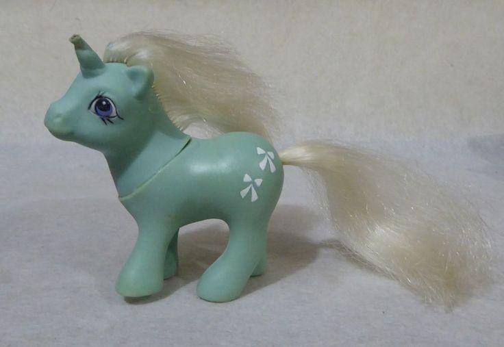 Vintage Baby Bowtie Unicorn.My little pony.G1.Hasbro.BASA.PERU.1980s.