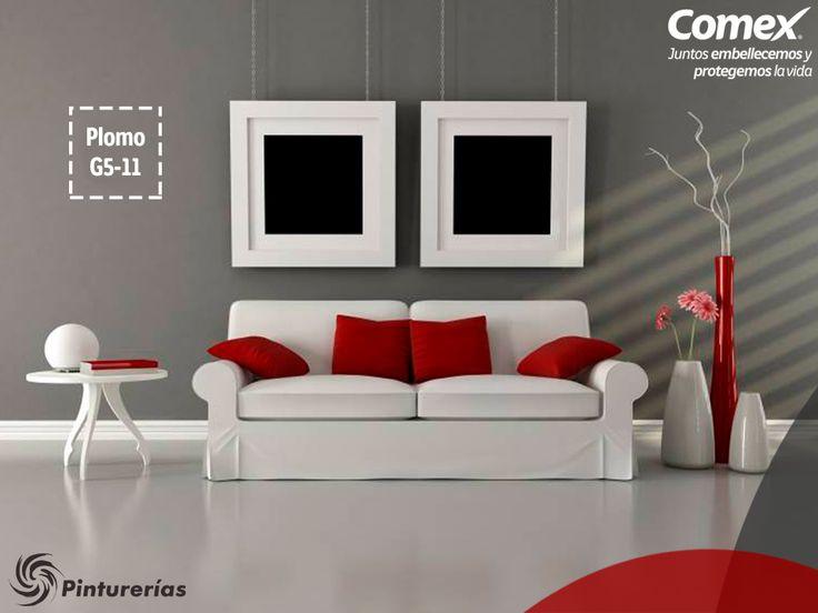 El color gris dará elegancia a tu sala y hará un contraste hermoso con blanco…