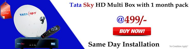 Tata Sky HD Multi Box with 1 month pack Special offer for all customer at lowest price on www.mydthshop.com