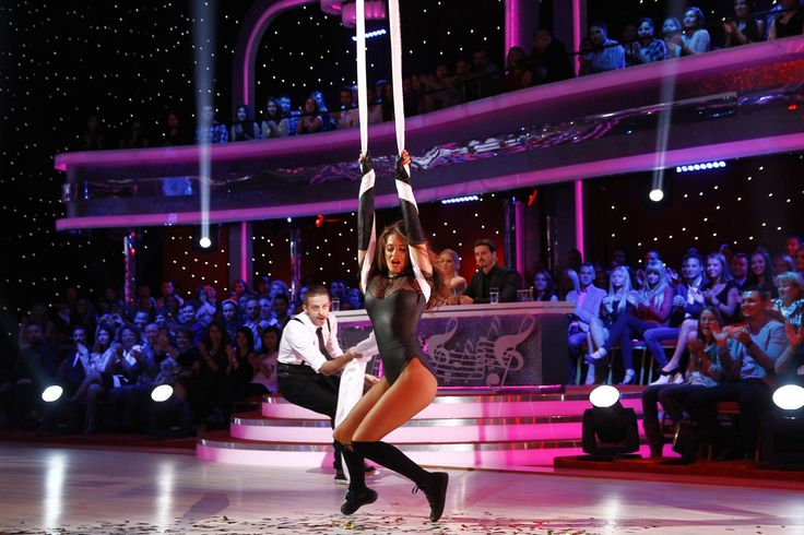 Raluka wearing Marie Ollie for Dancing with the Stars TV Show