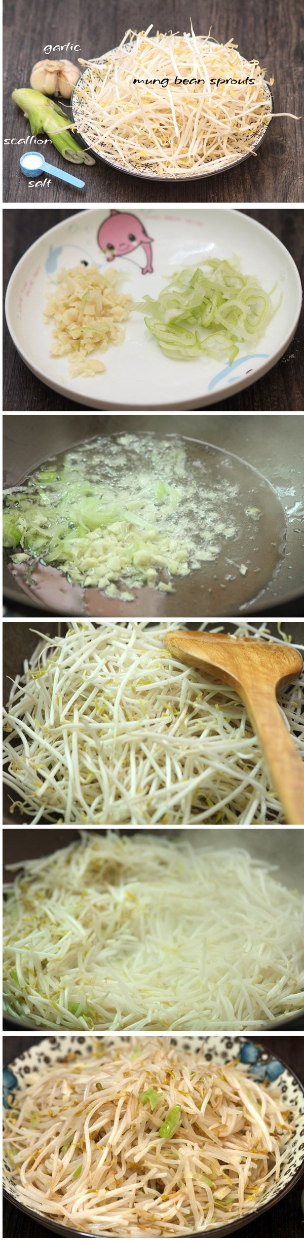 Many many people add into vegetarian ,Because they have request for health.Chinese stir fry mung bean sprouts is a quick easy recipe of healthy recipes.