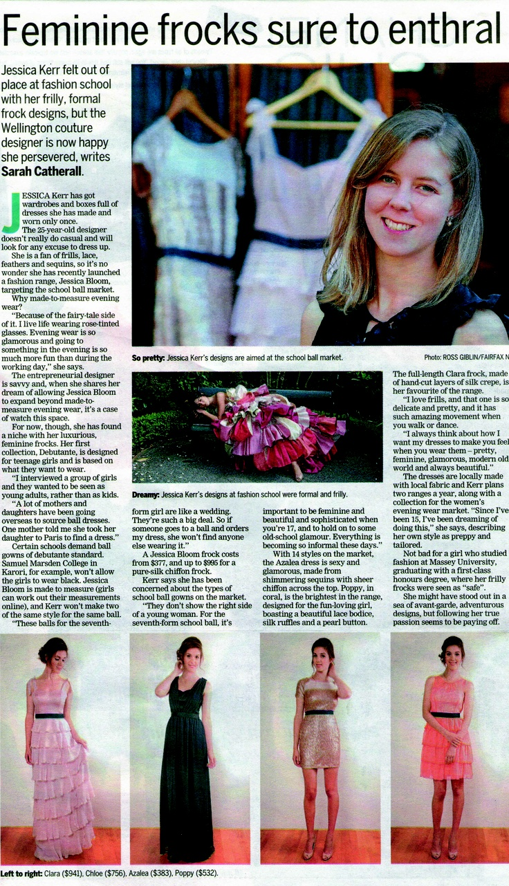 We where super excited to be in the paper for our Debutante collection!