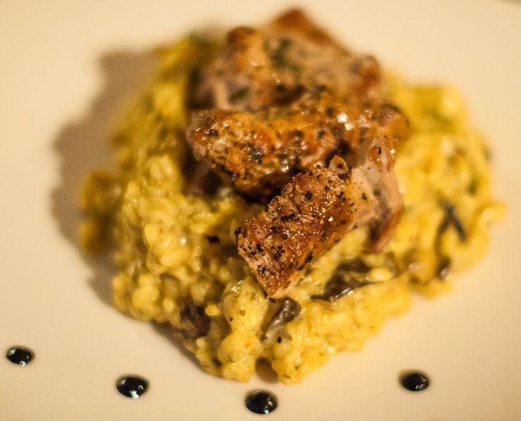 Risotto z grzybami i polędwiczką wieprzową - jaja w kuchni