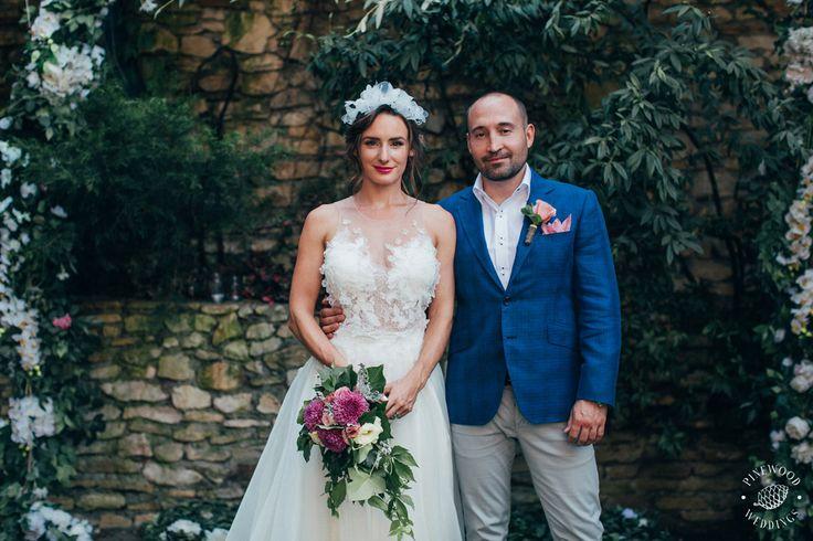 Nora Sarman Bridal / Kata is wearing a custom made wedding gown / photo Pinewood Weddings
