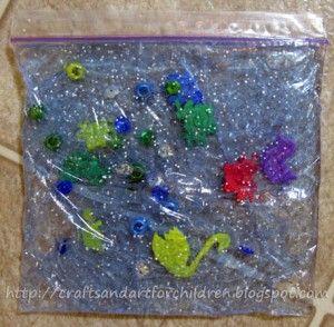 Ocean in a Bag {Sensory Activity} - Artsy Momma