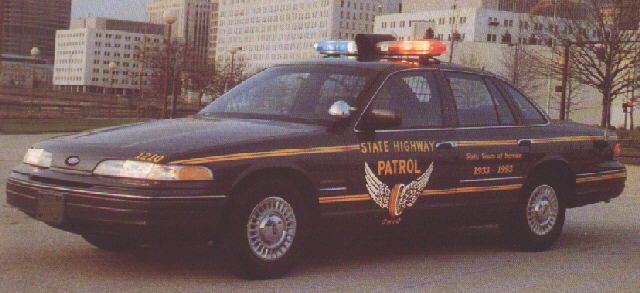 1992 Ford Crown Victoria Ohio State Highway Patrol Oshp Ford Police Victoria Police Police Cars
