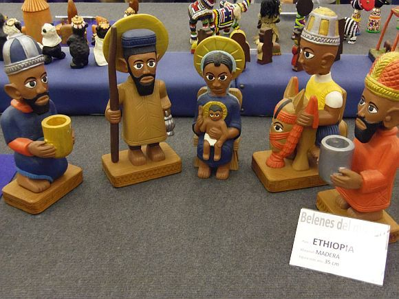 Nativity Set from Ethiopia - photo from travelocafe: Nativity Scenes From Around The World