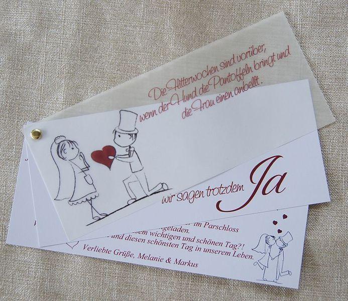 Einladungskarte Hochzeit ♥ Einladung Danksagung von Designisch auf ...