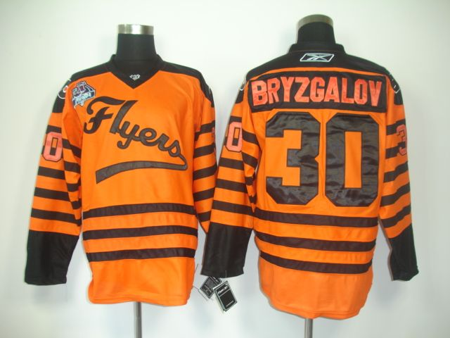 3ca7bb2ab Philadelphia Flyers 30 Ilya BRYZGALOV 2012 Winter Classic Orange Jersey