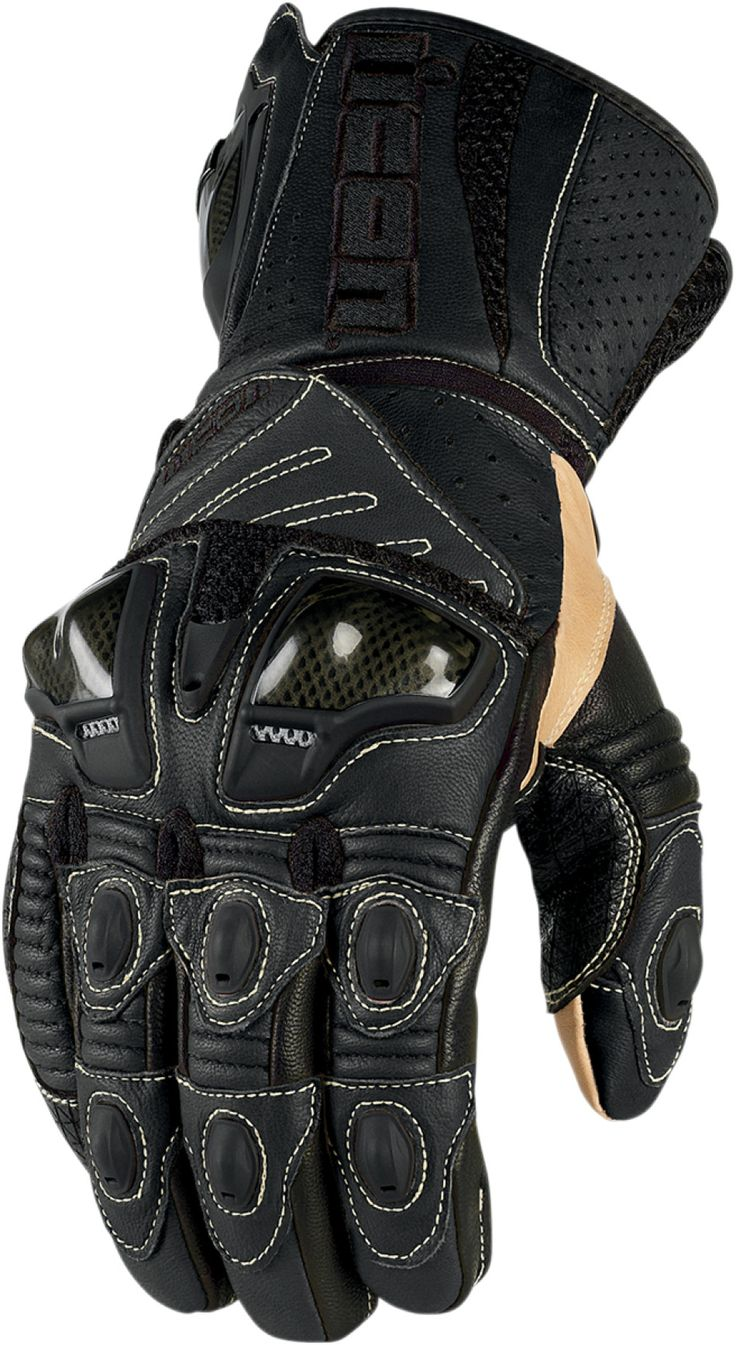 Motorcycle gloves kingston - Overlord Long Motorcycle Gloves Black
