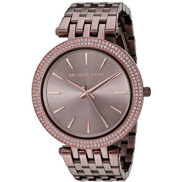 Michael Kors MK3416 - Darci (Sable/Rose Gold) Watches ($250) ❤ liked on Polyvore featuring jewelry, watches, michael kors watches, analog wrist watch, michael kors, charm watches and clasp charms - discount womens watches sale, best designer womens watches, cheap designer womens watches