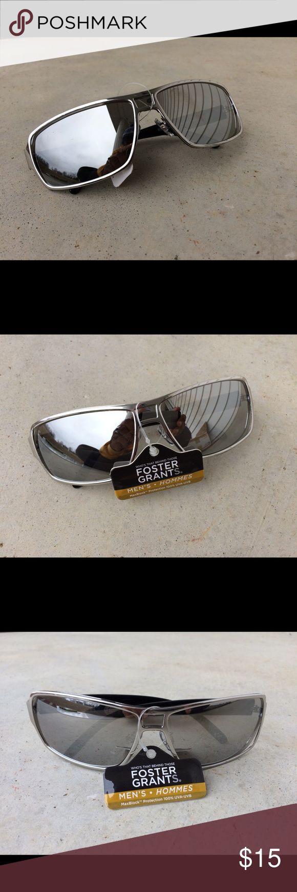 Foster grant men sunglasses silver mirror uva-uvb Foster grant men sunglasses silver mirror uva-uvb  Brand: foster grant  Color: silver  New with tags Foster Grant Accessories Sunglasses