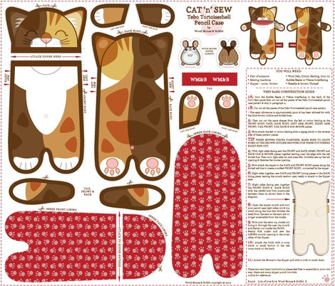 Tebo_Pencil_Case fabric by woodmouse
