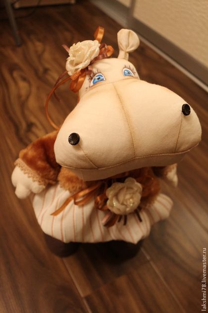 Игрушки животные, ручной работы. Ярмарка Мастеров - ручная работа Бегемотиха Люсинда. Handmade.