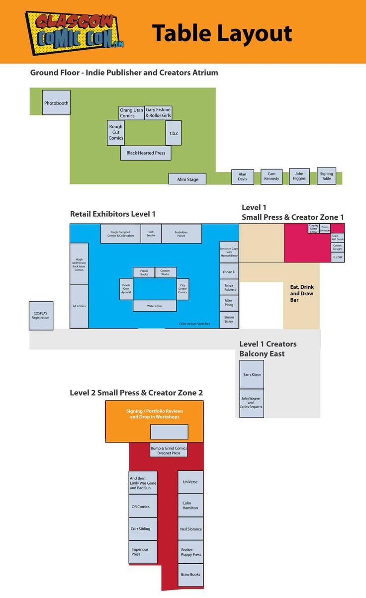 Glasgow Comic Con floor plan released