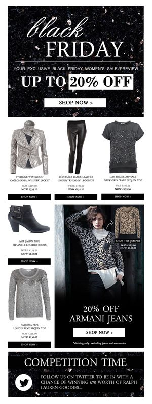 black friday emails fashion - Google Search