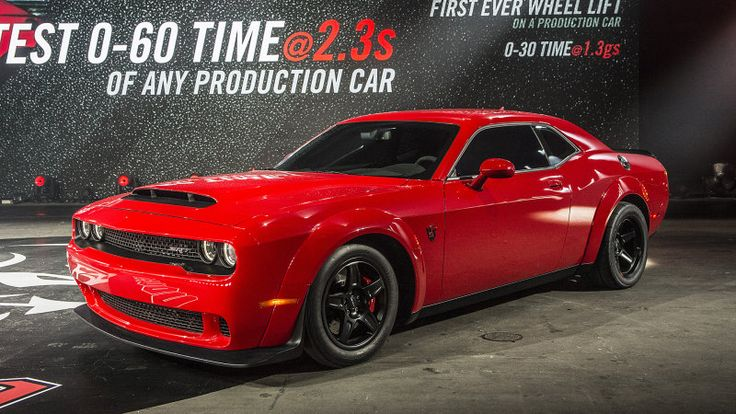 2018 Dodge Challenger SRT Demon. Dodge claims this is the quickest production V8 ever built.