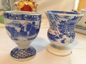 Collection OF Blue AND White China Including Victorian EGG Cups Lovely | eBay