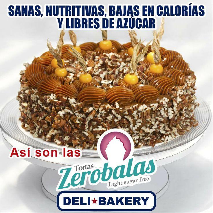 Tenemos una amplia variedad de Tortas Zero Balas, 100% nutritivas y sanas. Ven a DeliBakery y date un gustito.