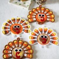 Turkey Crochet Coasters