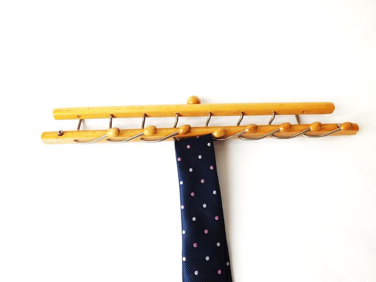#Midcentury #Tie Rack, #Italian #Brevettie Reguitti Folding Wall Hooks, #Vintage #Man Gift, Jewelry Rack, Wood Wall #Hook Kitchen Organizer by CuriosAnCollectibles on Etsy