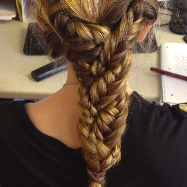 Beautiful braid for long hair