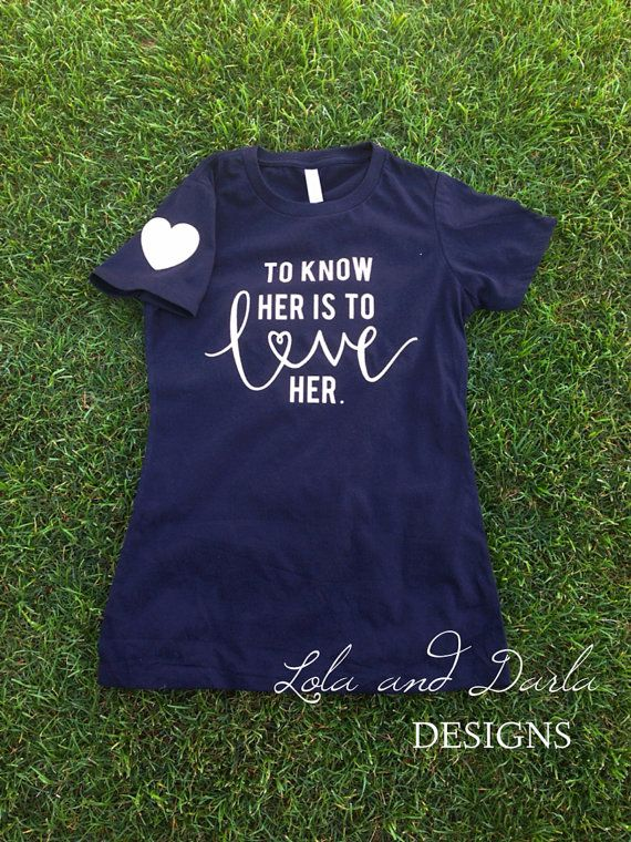 Womens Shirt To Know Her Is To Love Her Autism Awareness