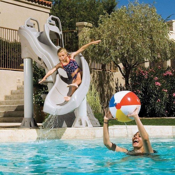 inground pool accessories ideas plastic water slides #swimmingpool ...
