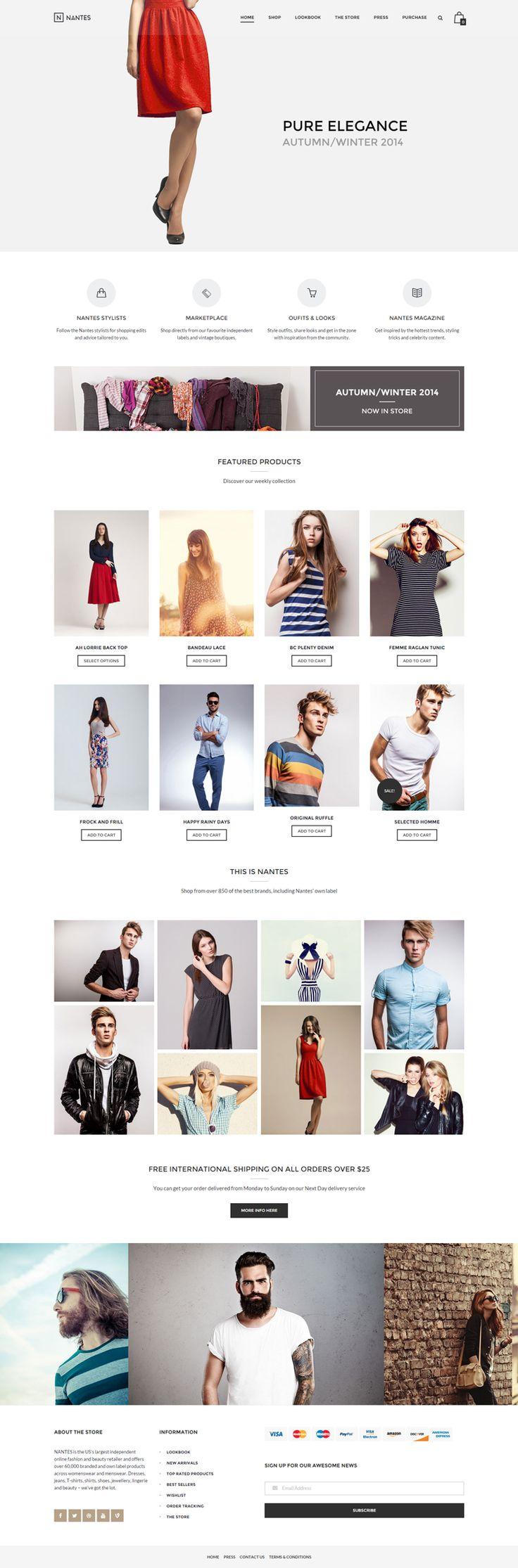 Fashion eCommerce WordPress Theme – Nantes