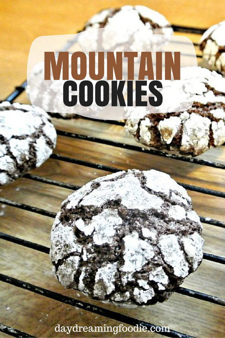A quick an easy dough for a chewy cookie. The chocolate mountain cookies are the perfect evening treat!