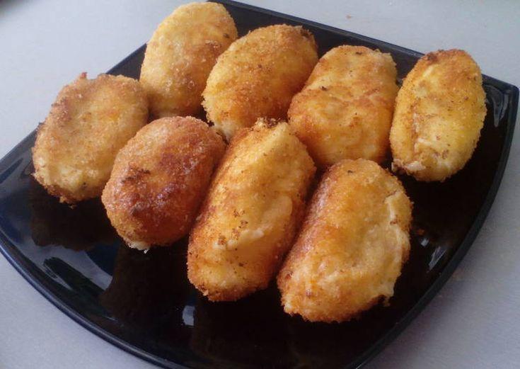 Croquetas de pollo y huevo