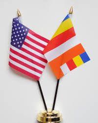 American USA Flag A Buddhist For