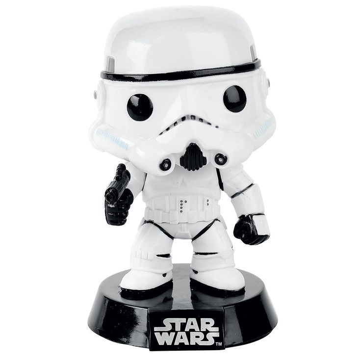 Statuetta decorativa Stormtrooper di #StarWars del brand Funko collezione Bobble Head. Altezza: 10 cm circa. Sulla scrivania, in auto o su una mensola in bagno. Non importa dove, scegli il luogo perfetto per il tuo Funko! La statuetta viene consegnata in una speciale scatola con finestra trasparente che ne mostra l'interno.
