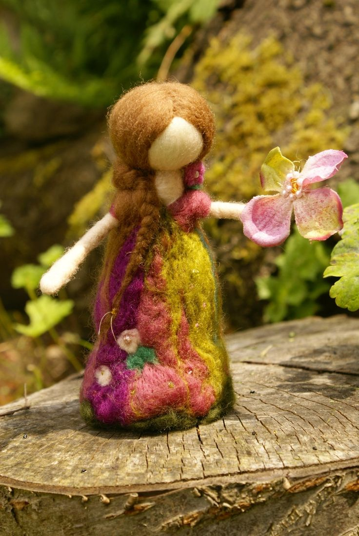 Princess doll  needle felted  waldorf nature table  by tillytilda, $19.99
