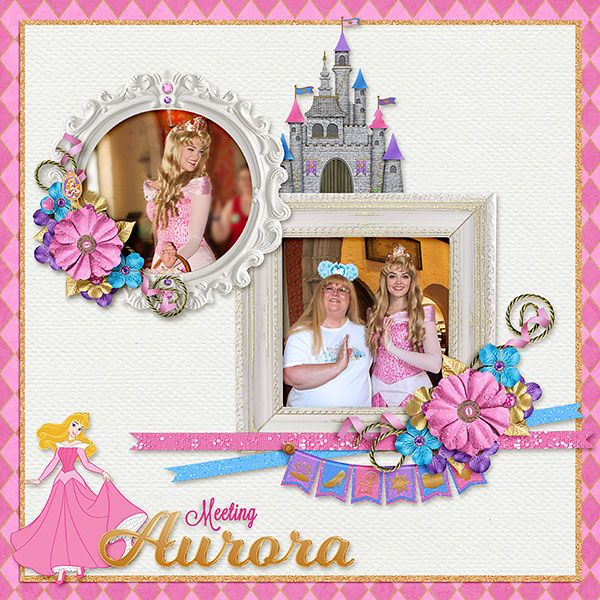 Meeting Aurora - MouseScrappers - Disney Scrapbooking Gallery