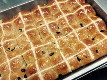 Hot Cross Buns in time for the weekend at Euroa Butter Factory Store
