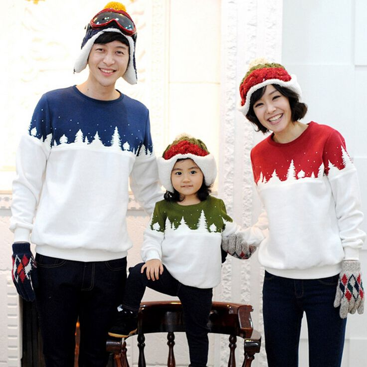 Family Matching Shirts Matching Mother Daughte Father Son Hoodies Cotton Family Christmas Clothing Family Matching Outfits