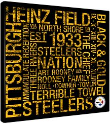 Purchase Pic: Pittsburgh Steelers Square Subway Art