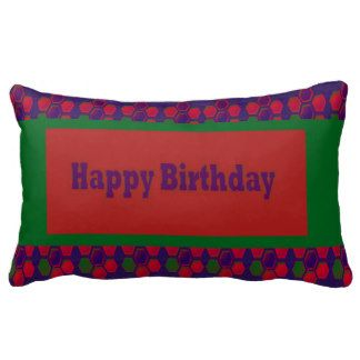 HAPPY Birthday Script Greeting Celebration Event 9 Pillow