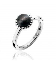 ZINZI zilveren ring zwart ZIR793Z