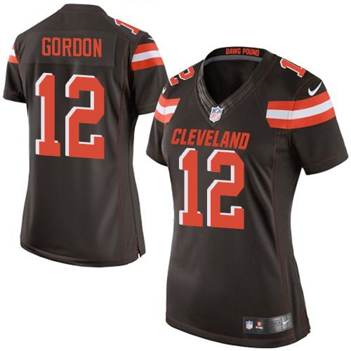 $24.99 Nike Elite Josh Gordon Brown Women's Jersey - Cleveland Browns #12 NFL Home