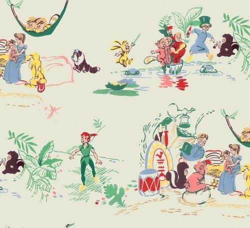 Perfect Cartoon Vintage Wallpaper: 189   Childrenu0027s Vintage Wallpaper · Peter Pan  ...