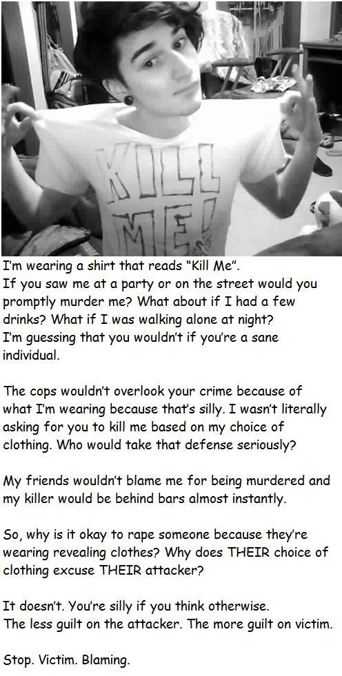 Our society needs to stop slut shaming and victim blaming = rape culture. #feminism #human #rights
