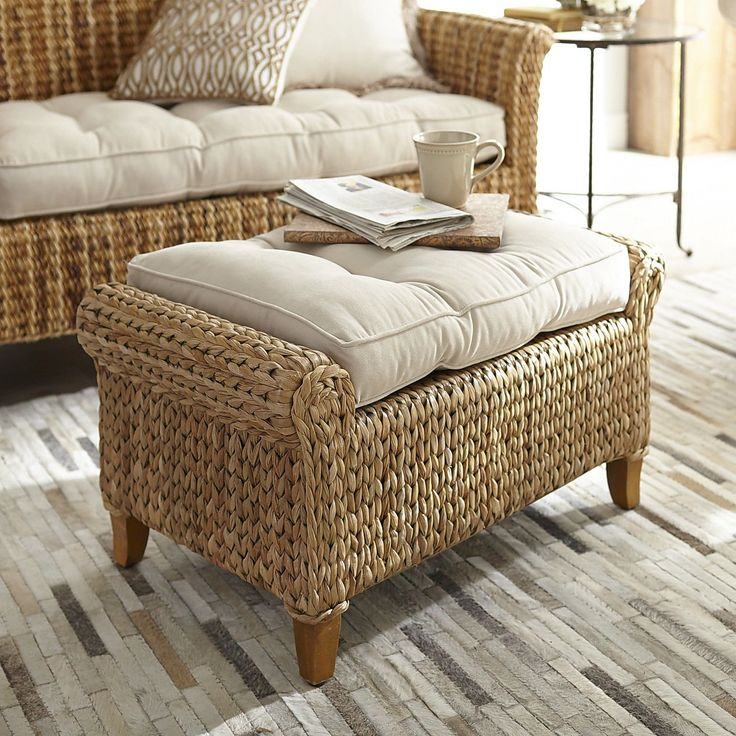 Graciosa Ottoman Natural Seagrass Home Decor Furniture Ideas Pier 1 I