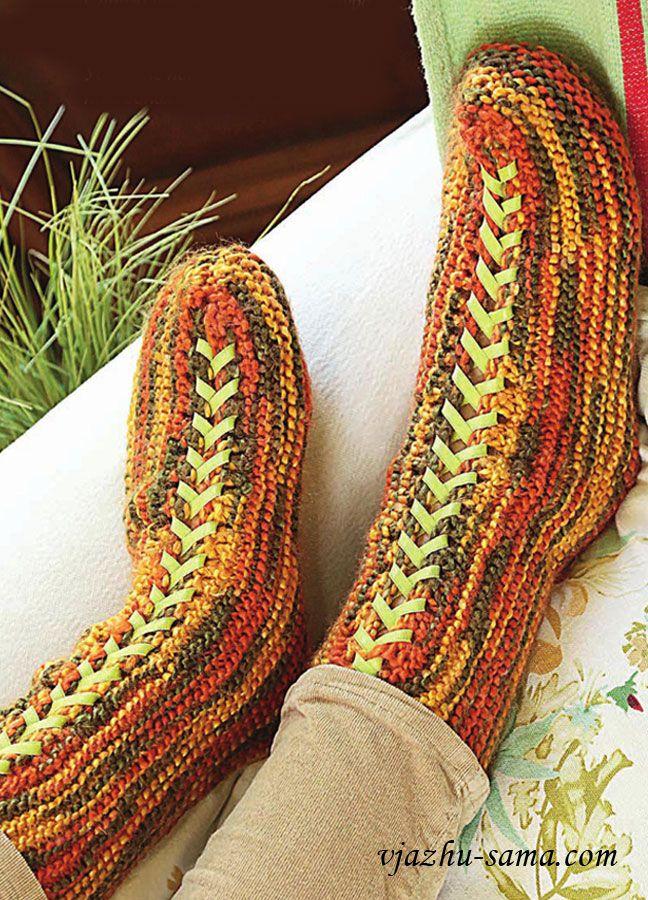 Меланжевые носки со шнуровкой . Обсуждение на LiveInternet - Российский Сервис Онлайн-Дневников