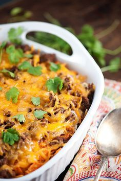 Take out the nachos for a nice low carb beef casserole