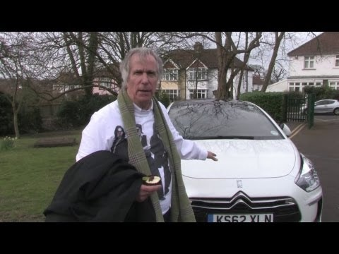 Henry Winkler on First News Tour with Citroën DS5 - YouTube